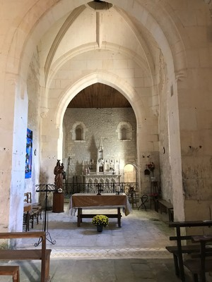 intérieur de l'église de Saint-Sever de Saintonge