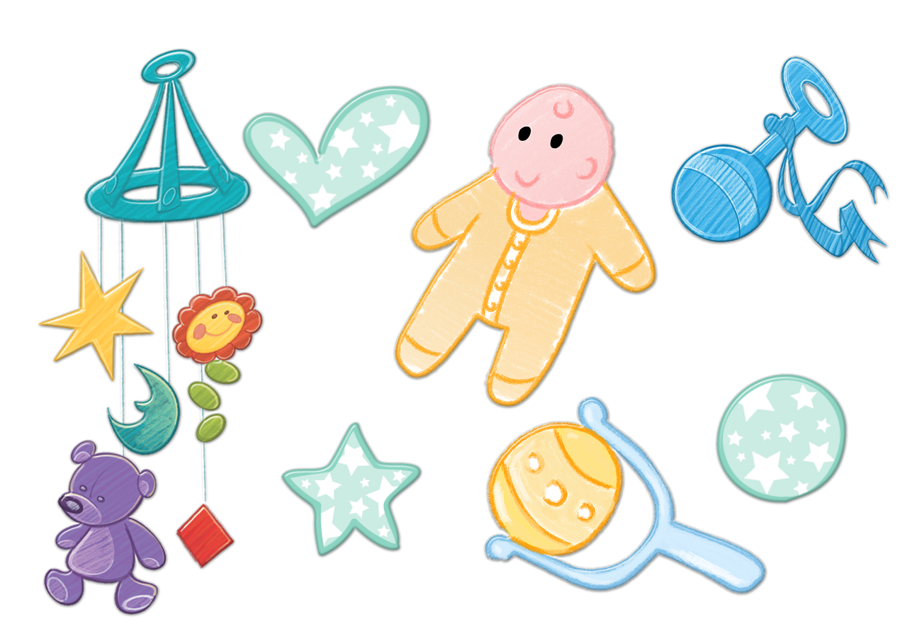 Baby Newborn Toys Mobile Rattle  - ArtsyBeeKids / Pixabay
