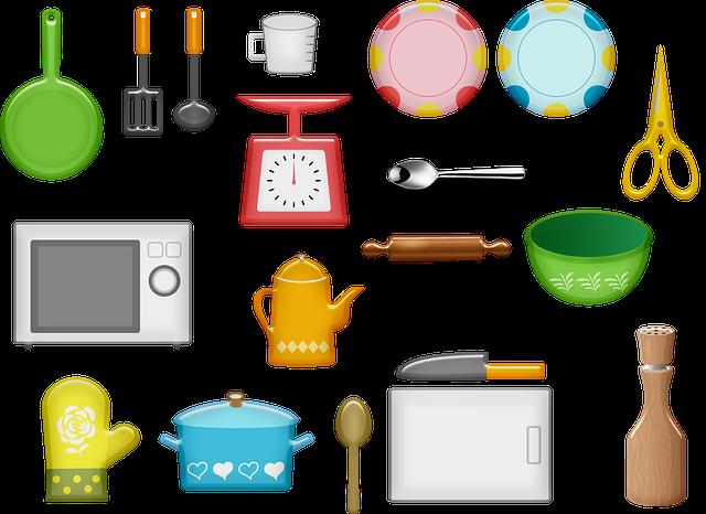 Kitchen Equipment Plates Microwave  - AnnaliseArt / Pixabay